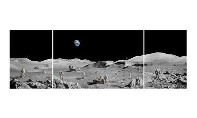 Michael Najjar, 'Lunar Explorers, triptych ', 2019