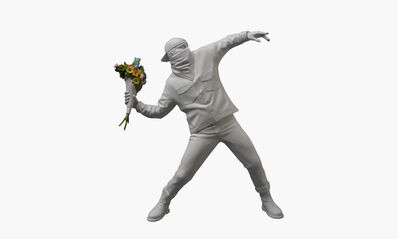 Banksy, 'Medicom-Flower Bomber White', 2016