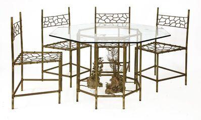 Albert Guibara, 'A patinated bronze dining suite'