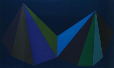 Sol LeWitt, 'Two Asymmetrical Pyramids: Plate 3', 1986