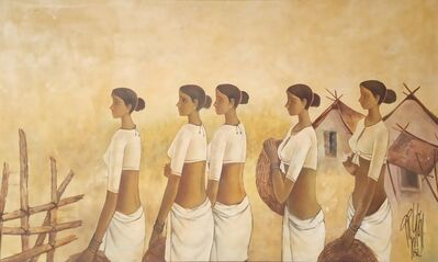 """B. Prabha, 'Untitled, Oil on Canvas by Modern Indian Artist """"In Stock""""', 1982"""