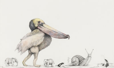 Adonna Khare, 'Pelican with Snail', 2019