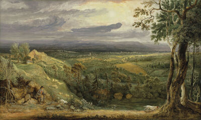 James Ward, 'A View in Somersetshire from Fitzhead, the Seat of Lord Somerville', 1805