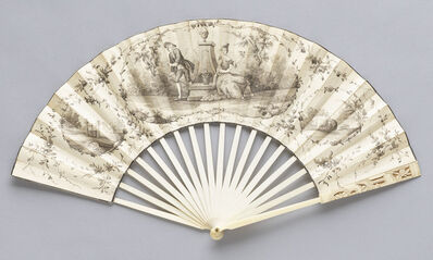 Various Artists, 'Mourning Fan', 1760-1770