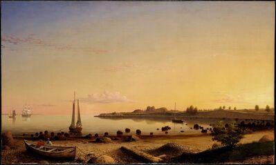 Fitz Henry Lane, 'Stage Fort across Gloucester Harbor', 1862