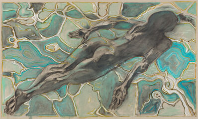 Billy Childish, 'swimmer under water', 2019