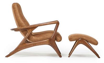 Vladimir Kagan, 'Contour lounge chair and ottoman, New York', 1950s