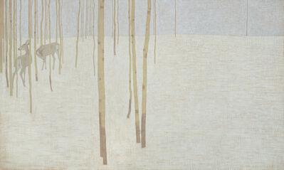David Grossmann, 'Two deer in winter colours', ca. 2020
