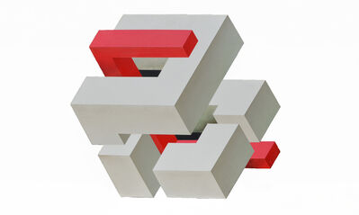 Shozo Nagano, 'Elements,Beige-Red', 1983