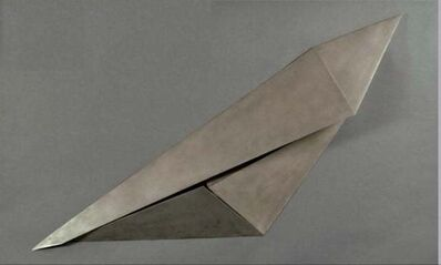 Beverly Pepper, 'Beverly Pepper Modernist Steel Wall Sculpture Abstract Welded Geometric Origami', 20th Century