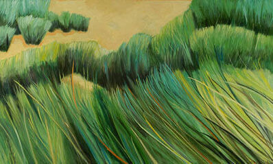 """Ellen Sinel, 'Grasses Series: """"Spartina Grass""""(dimensions provided are without frame)'"""