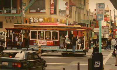 Christian Marsh, 'Chinatown Cable Car, San Francisco'