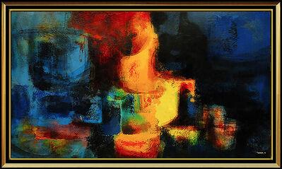Leonardo Nierman, 'Leonardo NIERMAN Oil Painting on Board Signed Large Abstract Original Cityscape', 1950-1969