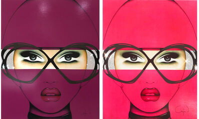 Anja Van Herle, 'For Your Eyes Only Series (Diptych)  - Original Painting on Panel', 2019