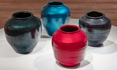 Ai Weiwei, 'Han Dynasty Vases with Auto Paint', 2018