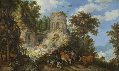 Roelandt Savery, 'Landscape with the Flight into Egypt', 1624