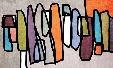 Irena Orlov, 'Vibrant Colorful Mid- Century Modern Abstract-0-25', 2017