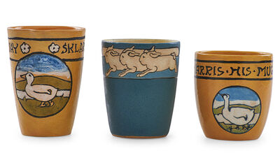 Saturday Evening Girls, 'Mug, milk pitcher, and cup with geese and rabbits', 1910s-20s