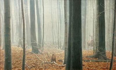 Robert Bateman, 'Hardwood Forest - White Tailed Buck', 1988