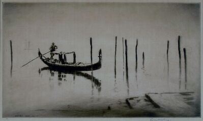 Levon West, 'Misty Lagoon, Venice', 1931