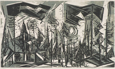 Werner Drewes, 'Sentinels of the West I', 1957
