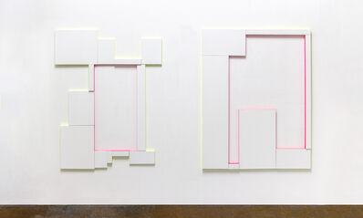 Patric Sandri, 'Untitled (Composition with 12 Canvas and 2 Colours) / Untitled (Composition with 7 Canvas and 2 Colours)', 2016