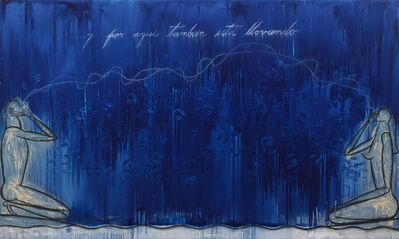 José Bedia, 'Y por aquí también está lloviendo', 1996