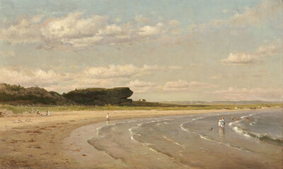 Worthington Whittredge, 'Second Beach, Newport', ca. 1878/1880