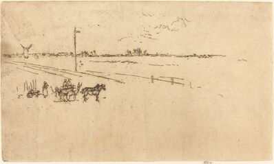 James Abbott McNeill Whistler, 'Railway Station, Voves', 1887