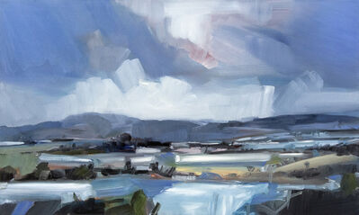 Simon Andrew, 'Long Mountain Landscape - light filled gestural oil on canvas', 2019