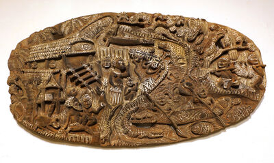 Papua New Guinea Tribal Art, 'Storyboard 26', 1960-1995