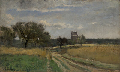 Charles François Daubigny, 'Landscape along a Country Road', ca. 1860