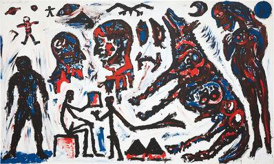 A.R. Penck, 'Landung auf einem Planeten', 1983