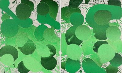 Xiao Bo, 'Sketches 2017 – Green 15', 2017