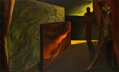 Lorser Feitelson, 'Paolo and Francesca', 1943