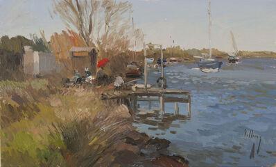 Jose Luis Checa Galindo, 'Fisherman on the Dock'