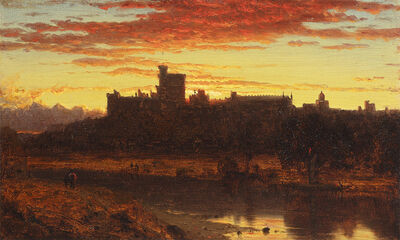 Sanford Robinson Gifford, 'Windsor Castle at Sunrise', ca. 1860