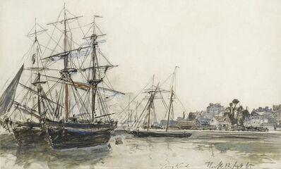 Johan Barthold Jongkind, 'Bateaux en rade de Honfleur', 1865