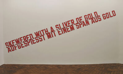 Lawrence Weiner, 'SKEWERED WITH A SLIVER OF GOLD (CAT. #1134)', 2016