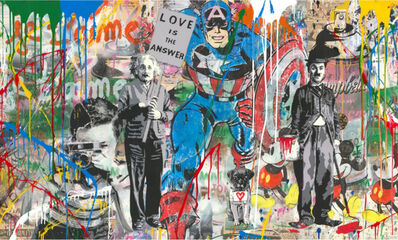 Mr. Brainwash, 'Mixed Wall- Capt. America', 2019