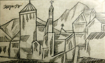 Francis Newton Souza, 'Untitled (Landscape with Church)', 1958