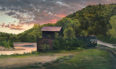 Scott Prior, 'Train Near the River', 2019