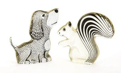 Abraham Palatnik, 'A Lucite puppy and squirrel', c.1970