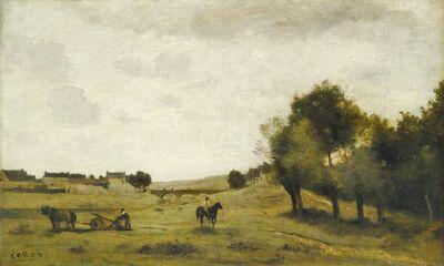 Jean-Baptiste-Camille Corot, 'View near Epernon', 1850/1860