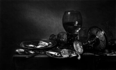 Kepa Garraza, 'Still Life with Oysters, a Silver Tazza, and Glassware', 202