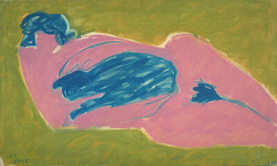 Stephen Pace, 'Pink Nude with Blue Cat', 1963