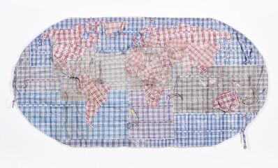 Dan Halter, 'Rifugiato Mappa del Mondo', 2016