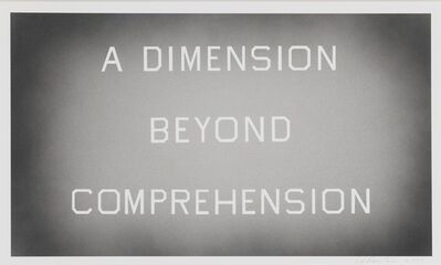 Ed Ruscha, 'A Dimension Beyond Comprehension', 2008