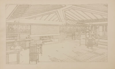 Frank Lloyd Wright, 'Dwelling for Mr. & Mrs. Coonley, Riverside, IL; Plate LVI from the Wasmuth Portfolio', 1910