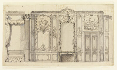 Germain Boffrand, 'Wall Elevation of the Bedroom of the Prince de Rohan, Hôtel de Soubise, Paris', 1725-1736
